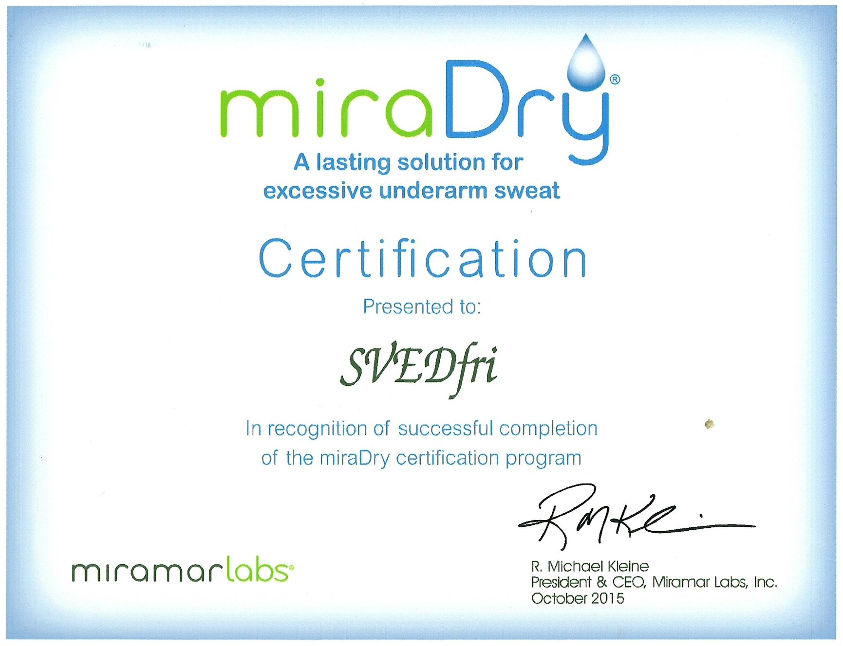 miradry-certificate